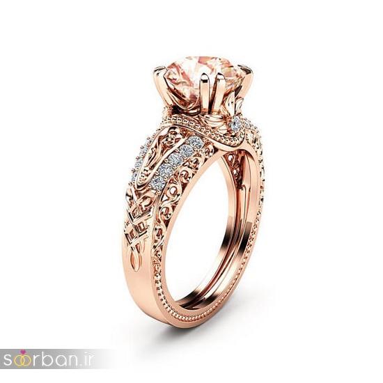 حلقه نامزدی رز گلد/ انگشتر عروس جدید رزگلد-2