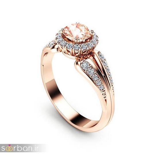 حلقه نامزدی رز گلد/ انگشتر عروس جدید رزگلد-3