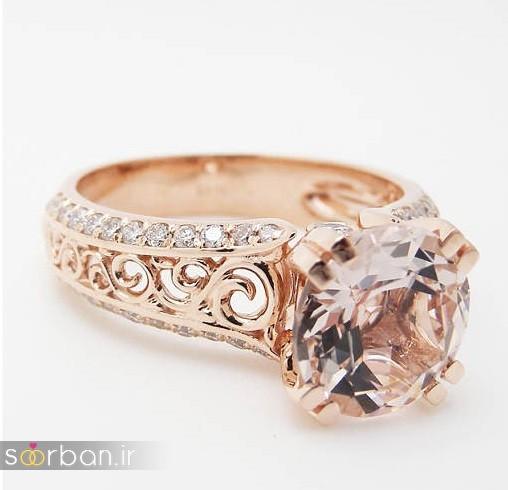 حلقه نامزدی رز گلد/ انگشتر عروس جدید رزگلد-5