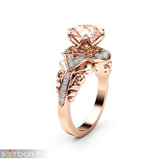 حلقه نامزدی رز گلد/ انگشتر عروس جدید رزگلد-6
