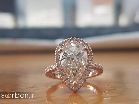 حلقه نامزدی رز گلد/ انگشتر عروس جدید رزگلد-8