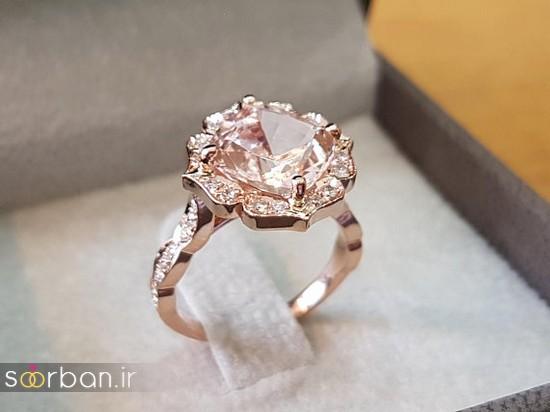 حلقه نامزدی رز گلد/ انگشتر عروس جدید رزگلد-9