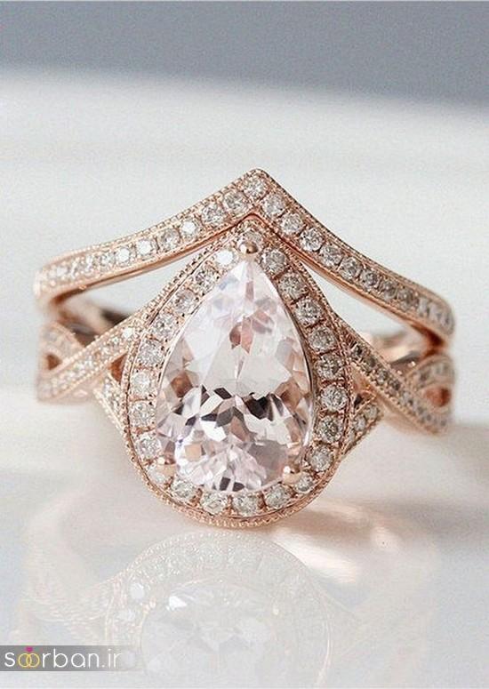 حلقه نامزدی رز گلد/ انگشتر عروس جدید رزگلد-12