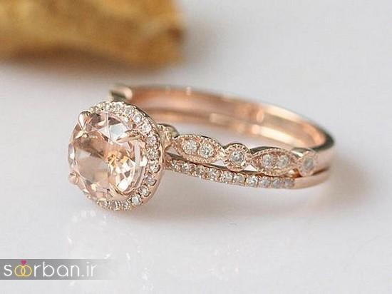 حلقه نامزدی رز گلد/ انگشتر عروس جدید رزگلد-13