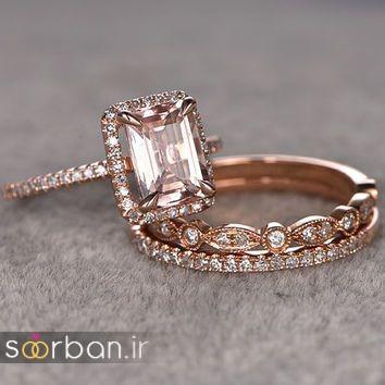 حلقه نامزدی رز گلد/ انگشتر عروس جدید رزگلد-17