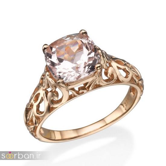 حلقه نامزدی رز گلد/ انگشتر عروس جدید رزگلد-19