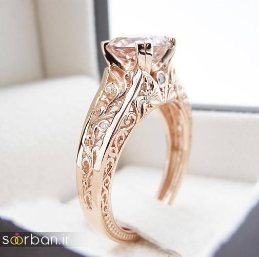 حلقه نامزدی رز گلد/ انگشتر عروس جدید رزگلد-20