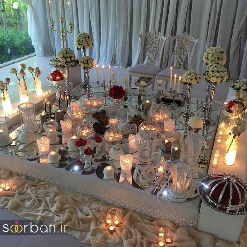 مدل بسیار زیبا سفره عقد ایرانی با شمع