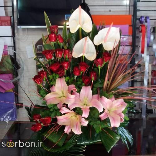 عکس سبد گل ایرانی خاص