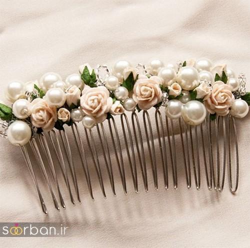 20 مدل شانه تزیینی برای مو عروس
