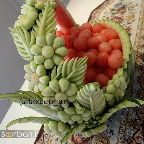 میوه آرایی شب یلدا عروس جدید و زیبا 99