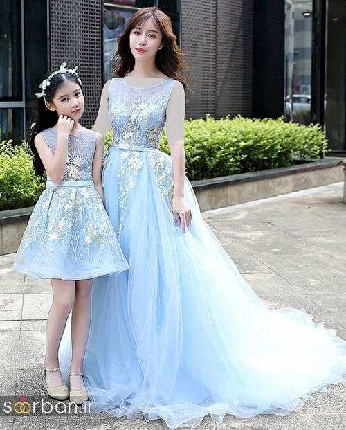 ست لباس مادر دختر مجلسی جدید و زیبا1