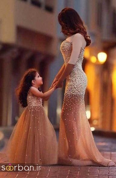 ست لباس مادر دختر مجلسی جدید و زیبا