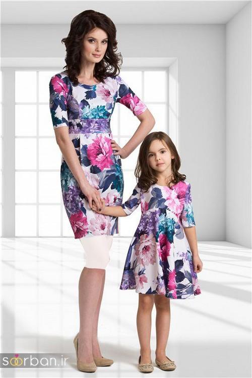 ست لباس مادر دختر مجلسی جدید و زیبا3