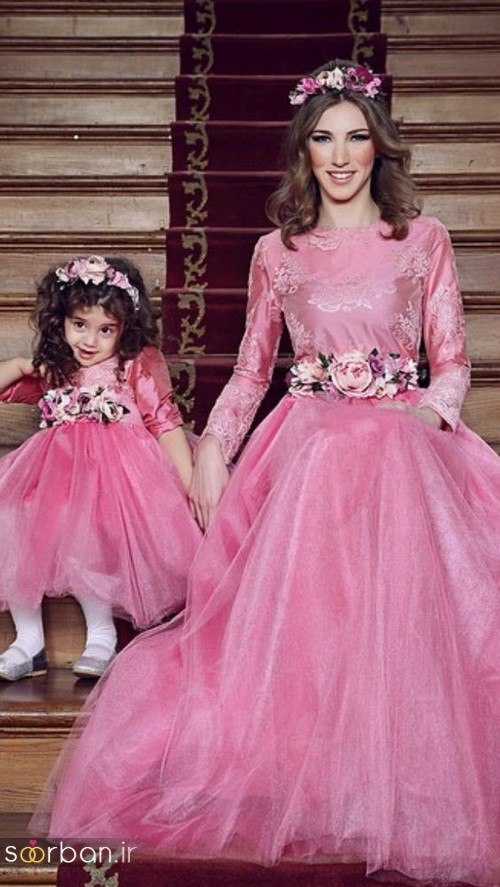 ست لباس مادر دختر مجلسی جدید و زیبا4