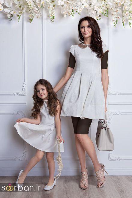 ست لباس مادر دختر مجلسی جدید و زیبا5