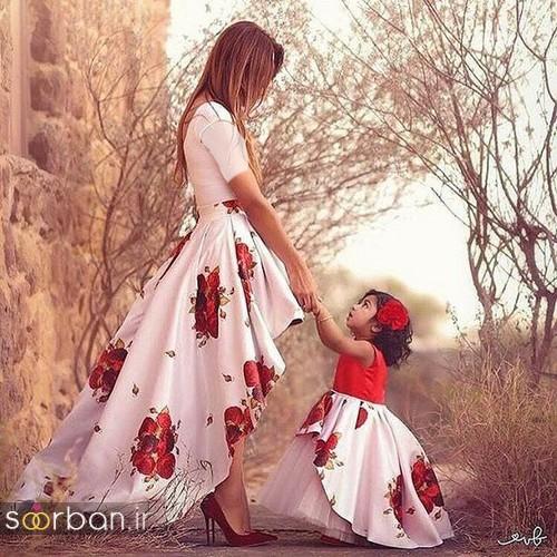 ست لباس مادر دختر مجلسی جدید و زیبا8
