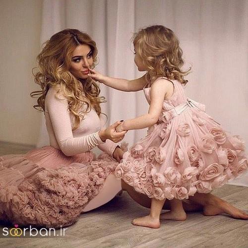 ست لباس مادر دختر مجلسی جدید و زیبا9