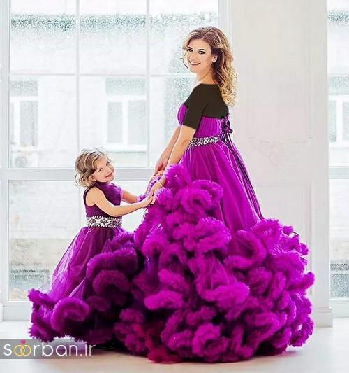 ست لباس مادر دختر مجلسی جدید و زیبا10