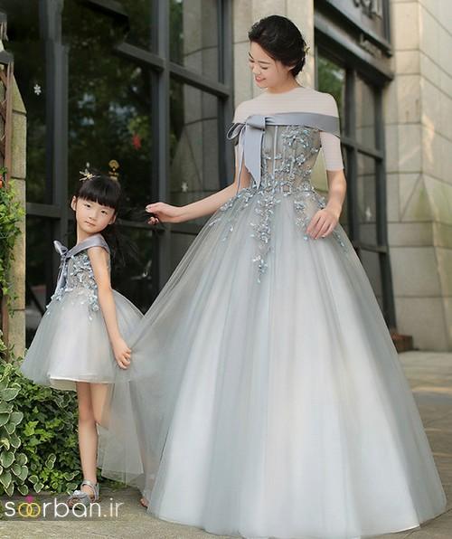 ست لباس مادر دختر مجلسی جدید و زیبا11
