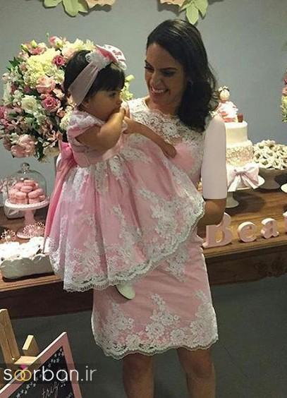 ست لباس مادر دختر مجلسی جدید و زیبا12