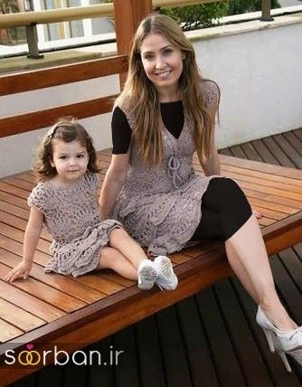 ست لباس مادر دختر مجلسی جدید و زیبا13