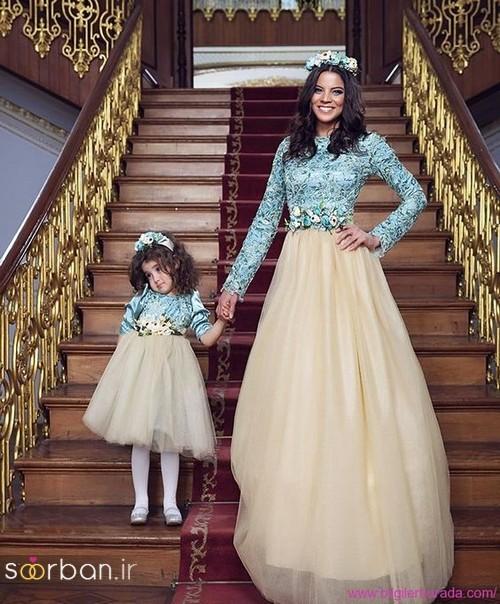 ست لباس مادر دختر مجلسی جدید و زیبا17