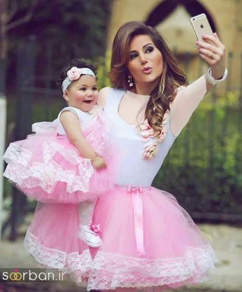 ست لباس مادر دختر مجلسی جدید و زیبا18