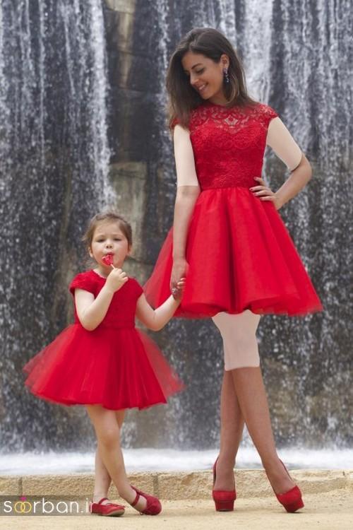 ست لباس مادر دختر مجلسی جدید و زیبا23