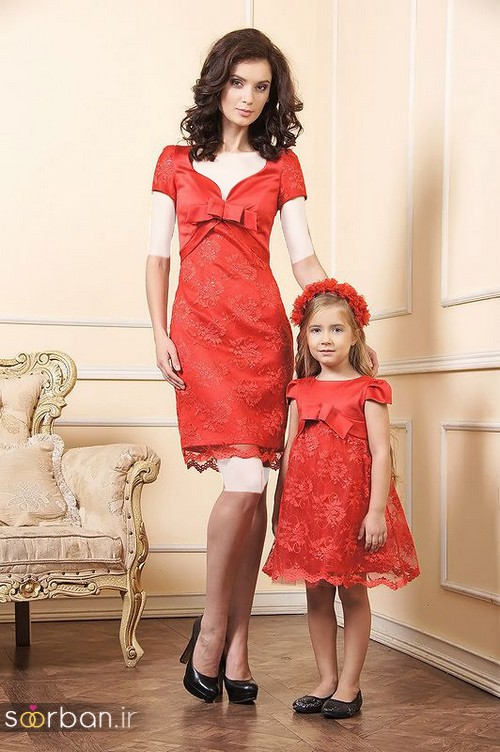 ست لباس مادر دختر مجلسی جدید و زیبا25