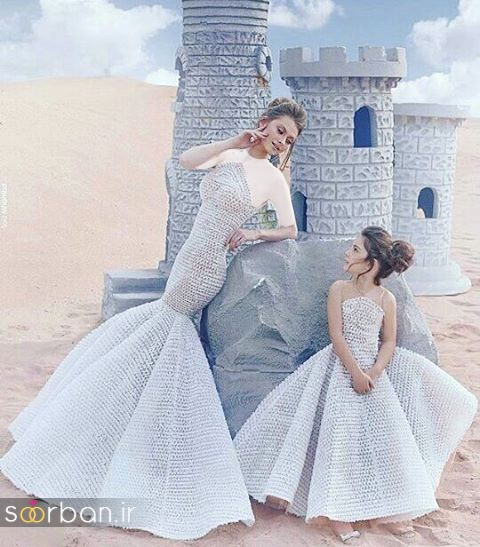 ست لباس مادر دختر مجلسی جدید و زیبا26
