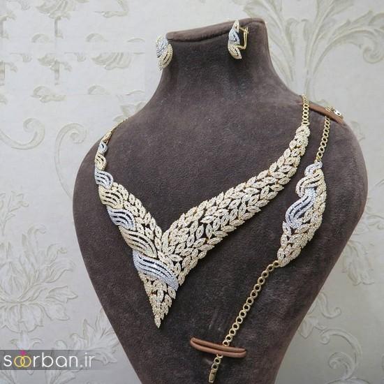 سرویس طلای عروس - نیم ست طلای عروس-17