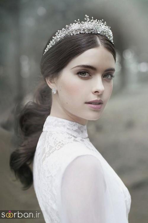 جدیدترین مدل های تاج عروس اروپایی 11