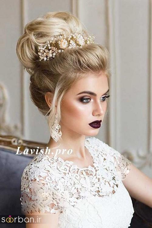 جدیدترین مدل های تاج عروس اروپایی 12