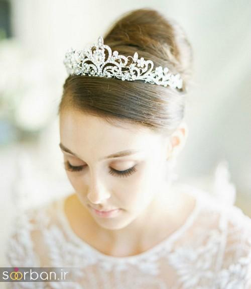 جدیدترین مدل های تاج عروس اروپایی 14