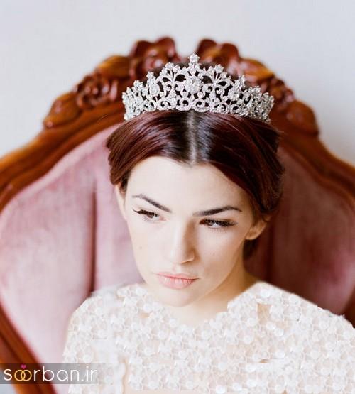 جدیدترین مدل های تاج عروس اروپایی 15