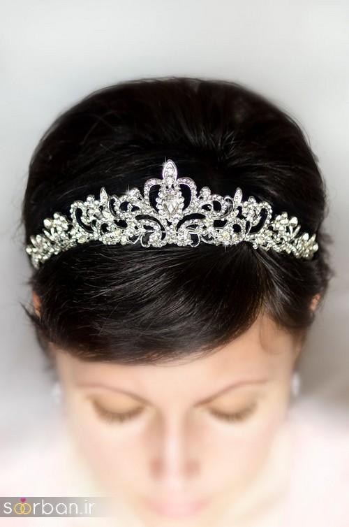 جدیدترین مدل های تاج عروس اروپایی 16