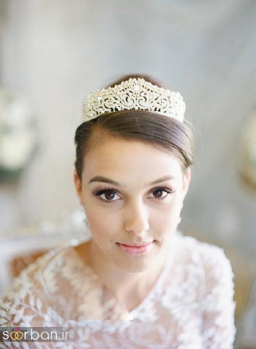 جدیدترین مدل های تاج عروس اروپایی 17