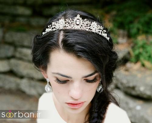 جدیدترین مدل های تاج عروس اروپایی 18