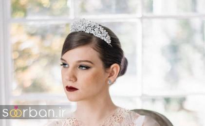 جدیدترین مدل های تاج عروس اروپایی ساده و شیک