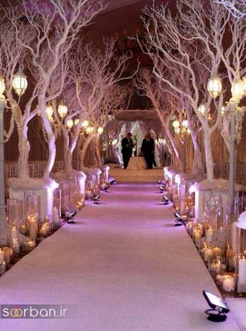 تزیین ژورنالی ورودی باغ تالار عروسی شیک و زیبا