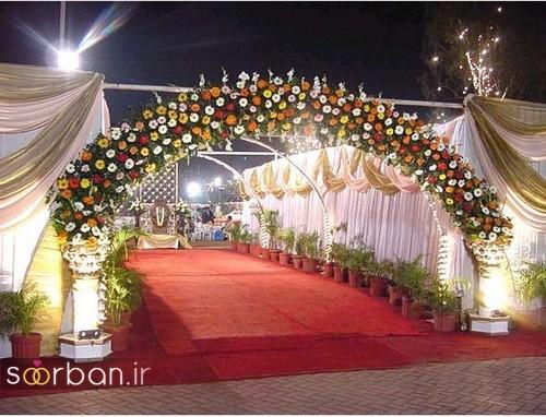 تزیین ژورنالی ورودی باغ تالار عروسی