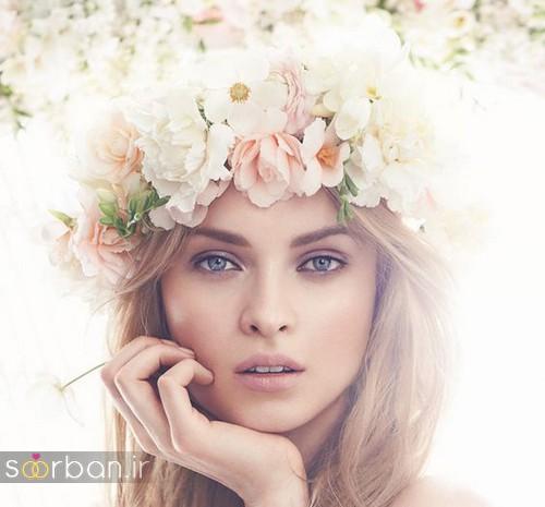 تاج عروس زیبا با گل های طبیعی و مصنوعی12