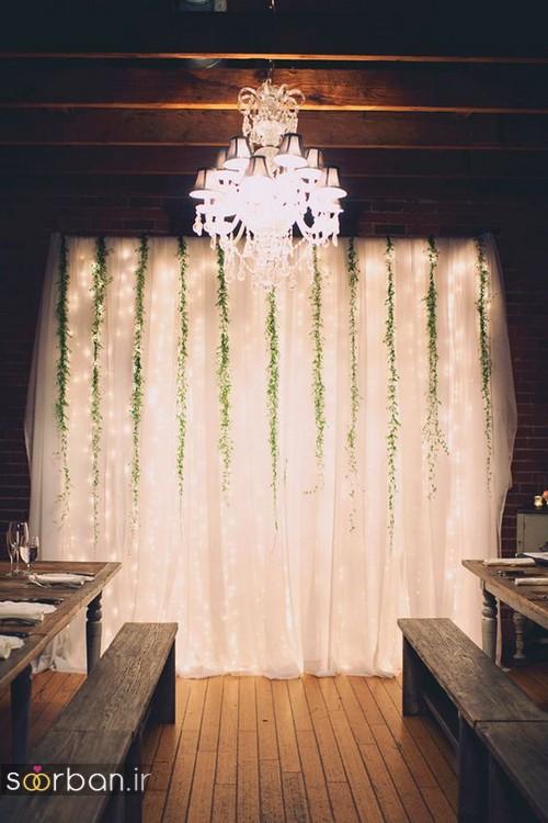 تزیین پشت سر جایگاه عروس و داماد جدید و بسیار زیبا