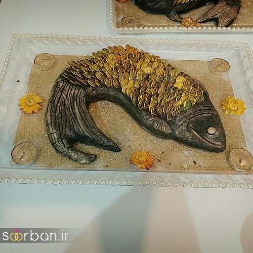 تزیین حنا برای حنابندان عروسی به شکل ماهی