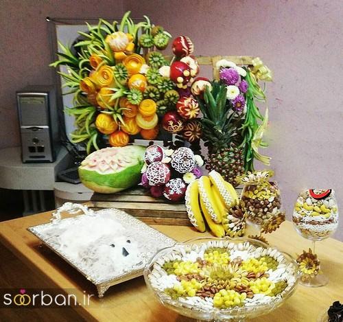 گالری تزیین شب یلدا عروس و میز شب چله-4