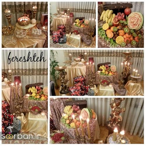 گالری تزیین شب یلدا عروس و میز شب چله-16