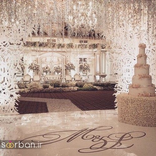تزیین و دکوراسیون لوکس تالار عروسی