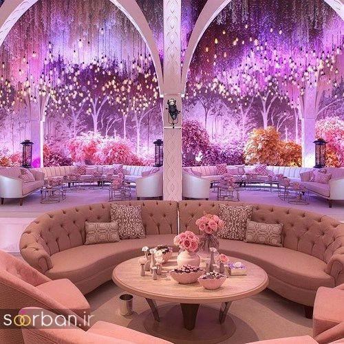 مدل های لتزیین لوکس تالار عروسی براق با اکریل