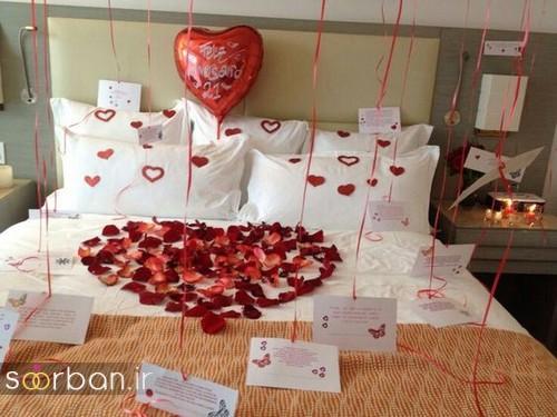 تزیین جذاب و رمانتیک اتاق خواب برای ولنتاین